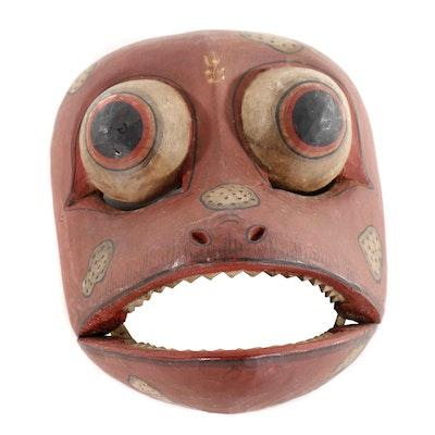 Balinese Wood Frog Mask