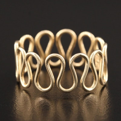 14K Yellow Gold Wire Ring