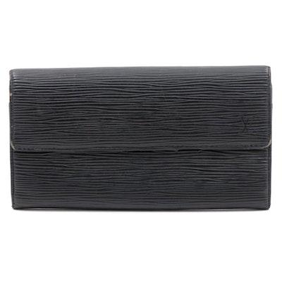 Louis Vuitton Black Epi Leather Sarah Continental Wallet