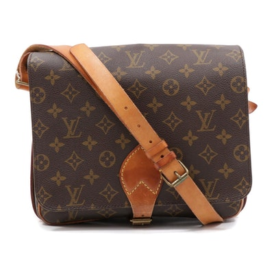 Louis Vuitton Monogram Canvas Cartouchiere Flap Front Shoulder Bag