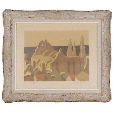 "Bejarne Engebret Lithograph ""Gotland - Visby"", 1952"