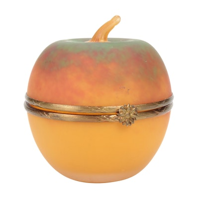Patrick Crespin Pâte de Verre Art Glass Apple Limoges Box
