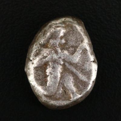 Ancient Persia Achaemenid Empire AR Siglos Coin, ca. 485 to 420 B.C.