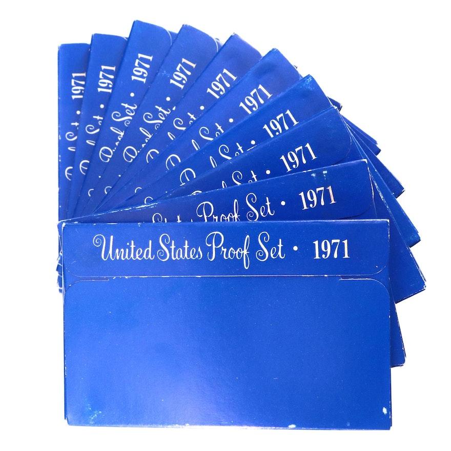 Ten 1971 U.S. Proof Sets