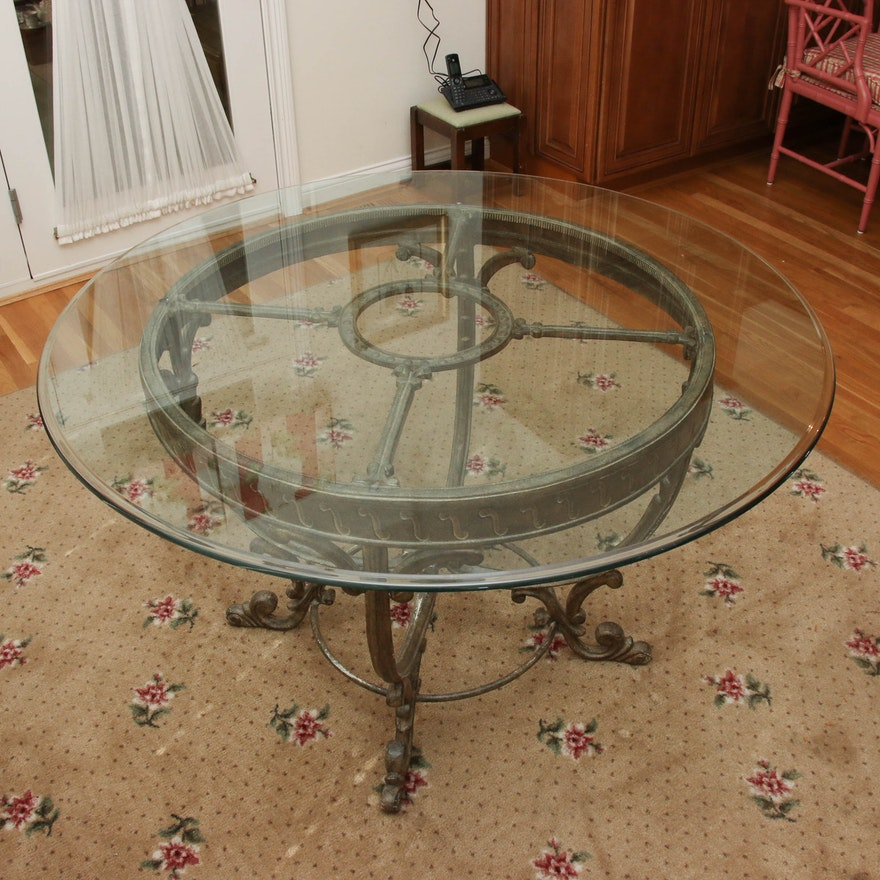 Neoclassical Style Dining Table, Late 20th Century