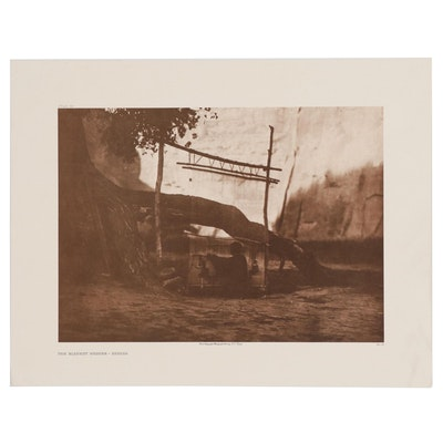 "Offset Lithograph after Edward S. Curtis ""The Blanket Weaver - Navaho"""