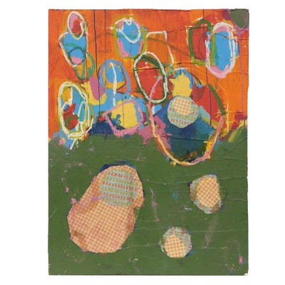 Michael Farsetta Abstract Mixed Media Painting