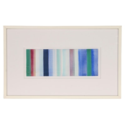 Ned Evans Abstract Watercolor Painting