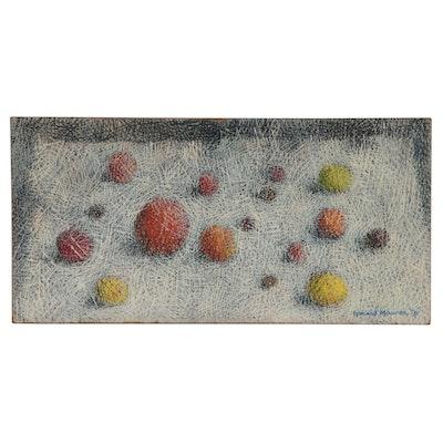 Leonard Maurer Abstract Oil Painting, 1958