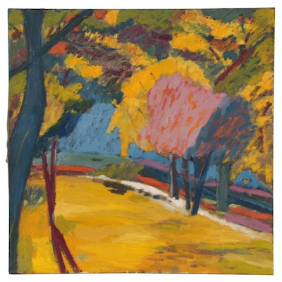 Jerald Miranov Abstract Landscape Oil Painting