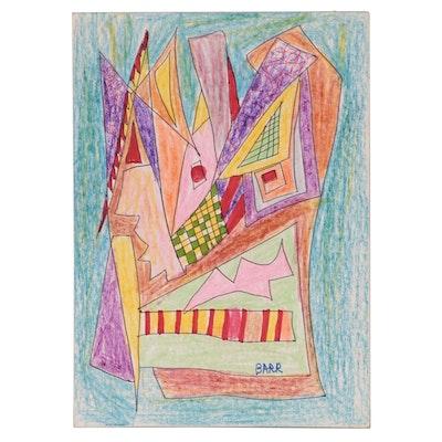 Chuck Barr Abstract Mixed Media Drawing