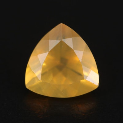 Loose 2.55 CT Triangular Faceted Opal Gemstone