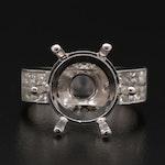 18K White Gold 1.20 CTW Diamond Semi-Mount Ring