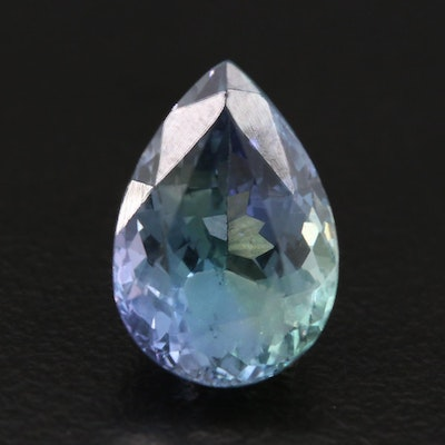 Loose 4.57 CT Tanzanite Gemstone with GIA Report