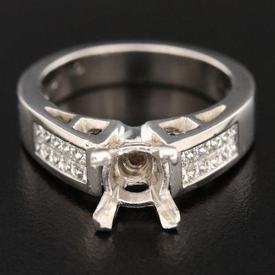 Platinum Diamond Semi-Mount Ring