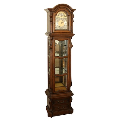 Herschede Floor Clock with Interior Display Case, Late 20th Century