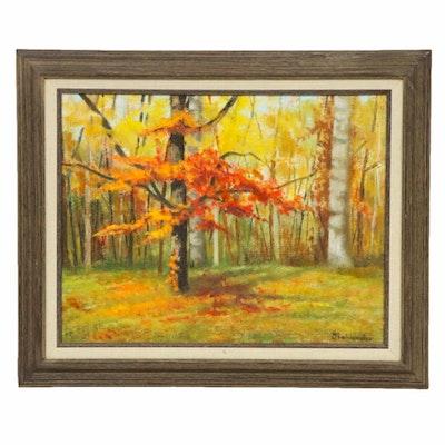 Joan Bohlander Fall Landscape Oil Painting