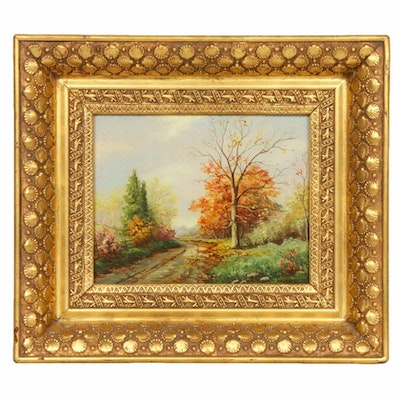 Geraldine Darwood Fall Landscape Oil Painting