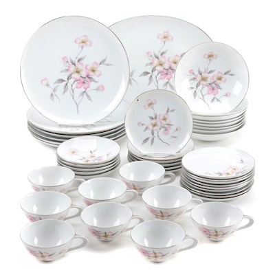 "Sango ""Dogwood"" Porcelain Dinnerware, Mid to Late 20th Century"