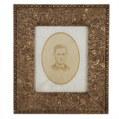 Albumen Portrait of a Man in Aesthetic Movement Frame, Mid to Late 19th Century