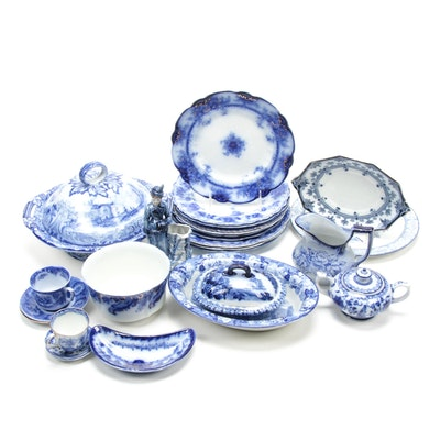 Ford & Sons Burslem and Other Ironstone and Porcelain Transferware Serveware