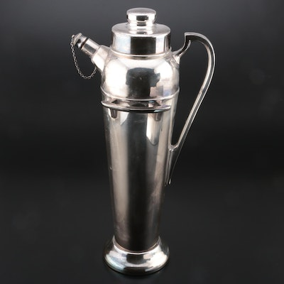 Empress Ware Art Deco Silver Plate Cocktail Shaker, 1915-1922