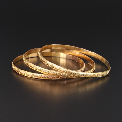 10K Yellow Gold Bracelets