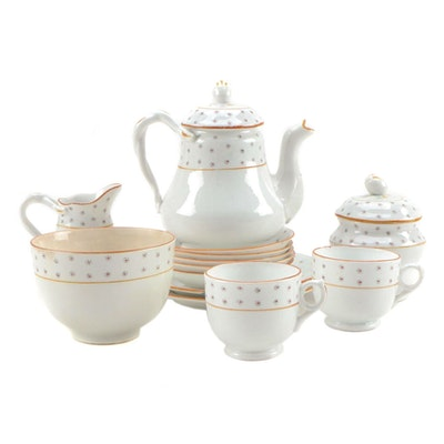 Children's Porcelain Sprigged Tea Set, 1870-1890