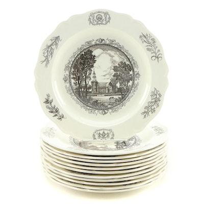 Wedgwood Williamsburg Va. Creamware Plates, 1950's