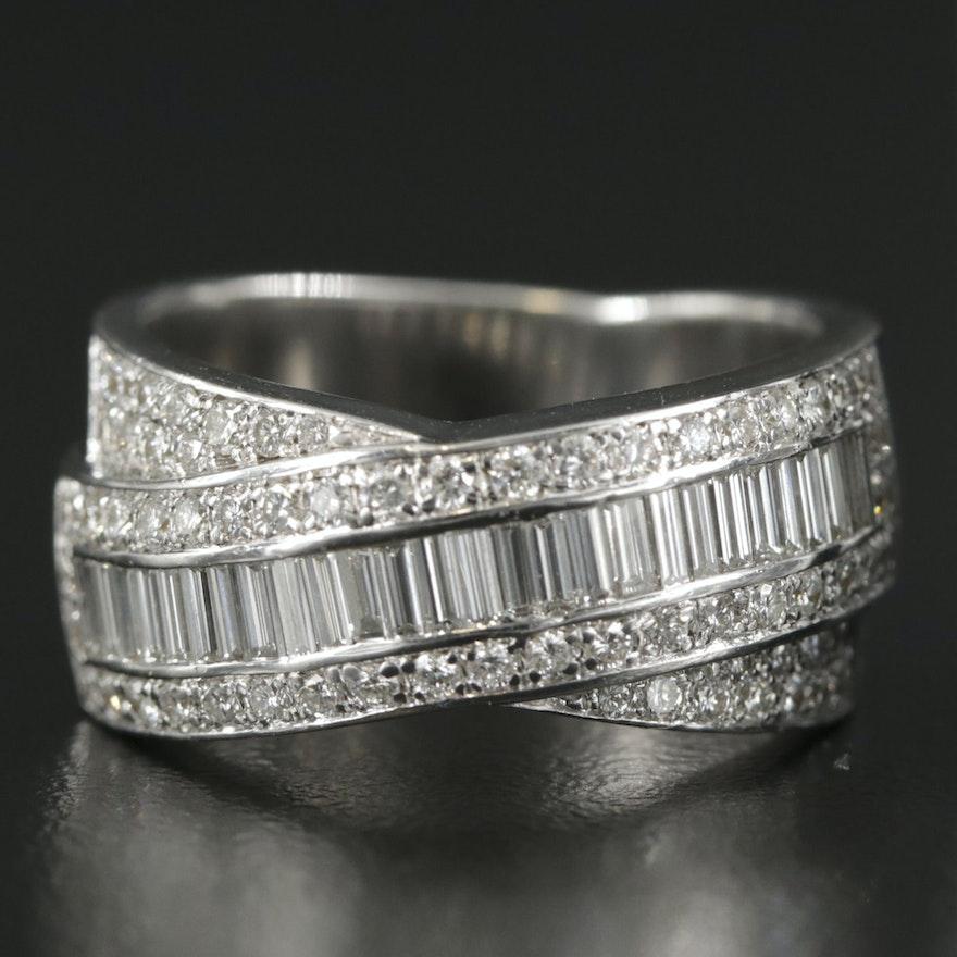 Oliva 18K White Gold 1.06 CTW Diamond Ring