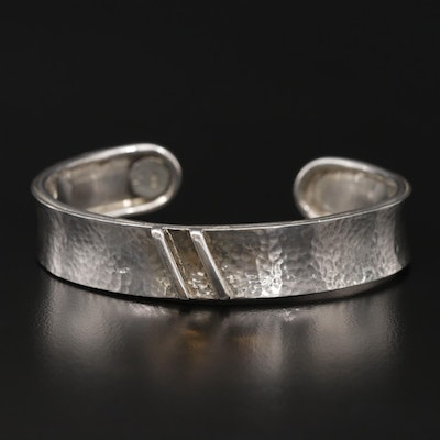 Sterling Silver Hammered Texture Cuff