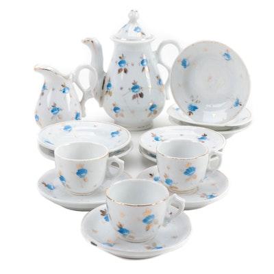 Miniature German Porcelain Coffee Service, 1890-1930