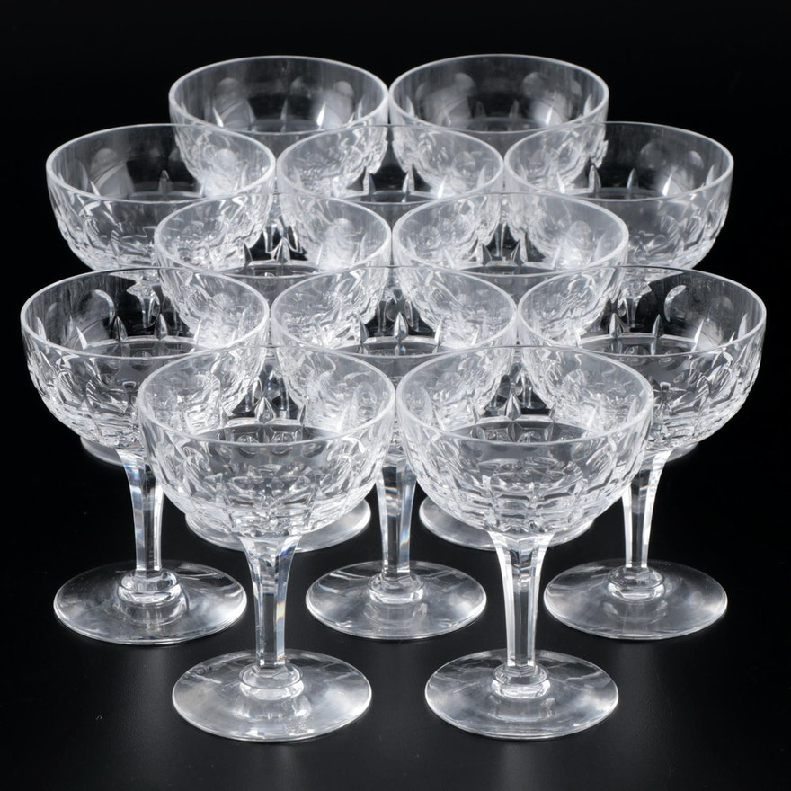 "Stuart Crystal ""Clifton Park"" Champagne Coupes, 1955–1984"