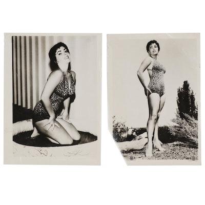 Silver Gelatin Photographs of Elizabeth Taylor, circa 1955