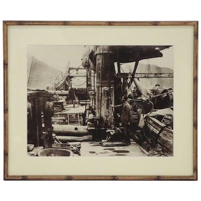 Southeast Asian Shipping Vessel Silver Gelatin Photograph, 20th Century