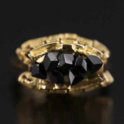 18K Yellow Gold Tourmaline Ring