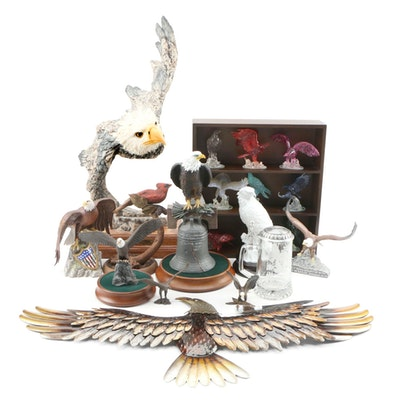 """Stephen Herrero """"Above the Storm"""" Resin Eagle Sculpture with Other Eagle Decor"""