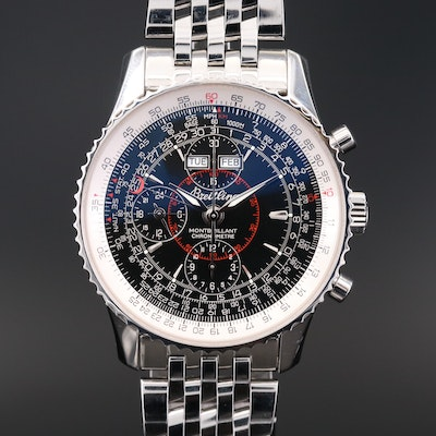 Breitling Montbrilliant Datora Chronograph Stainless Steel Automatic Wristwatch