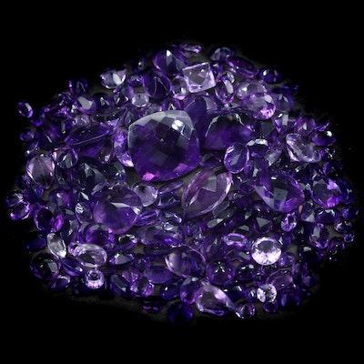 Loose 116.73 CTW Amethyst Gemstones