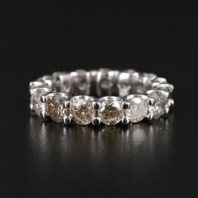 14K White Gold 5.31 CTW Diamond Eternity Band