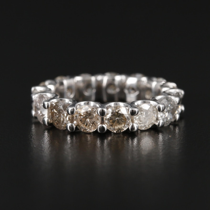14K White Gold 5.31 CTW Diamond Eternity Band