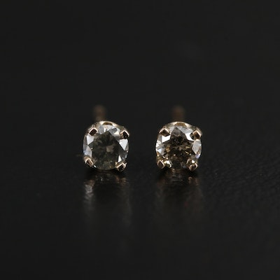 14K Yellow Gold 0.18 CTW Diamond Stud Earrings