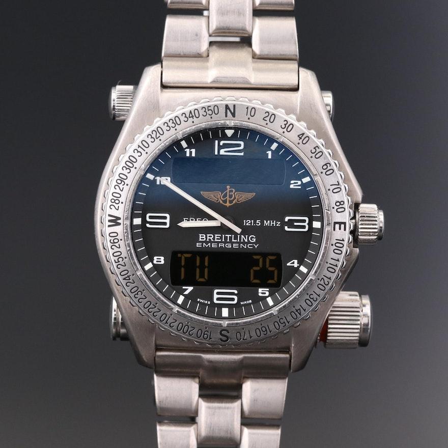 Breitling Emergency Titanium Multifunction Quartz Wristwatch