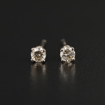 14K Yellow Gold 0.14 CTW Diamond Stud Earrings
