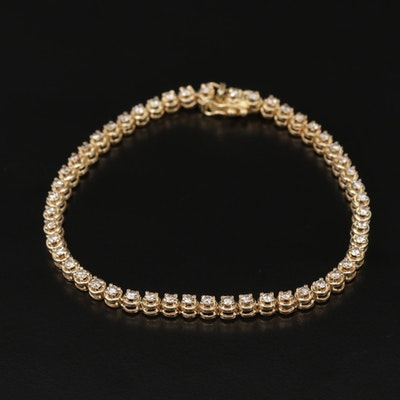 14K Yellow Gold 1.87 CTW Diamond Link Bracelet