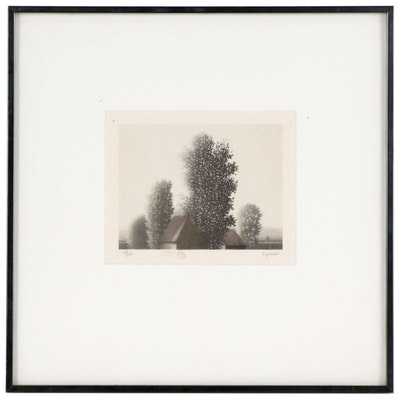 Robert Kipniss Landscape Lithograph, Late 20th Century