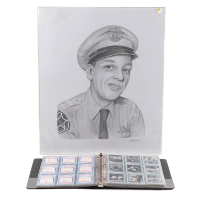 Andy Griffith Television Show Trading Cards with Don Knotts Print