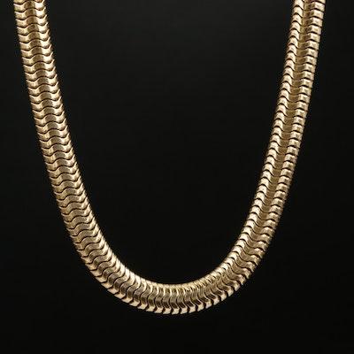 Vintage Forstner Sterling Snake Chain Necklace