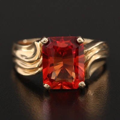 10K Gold Synthetic Corundum Ring