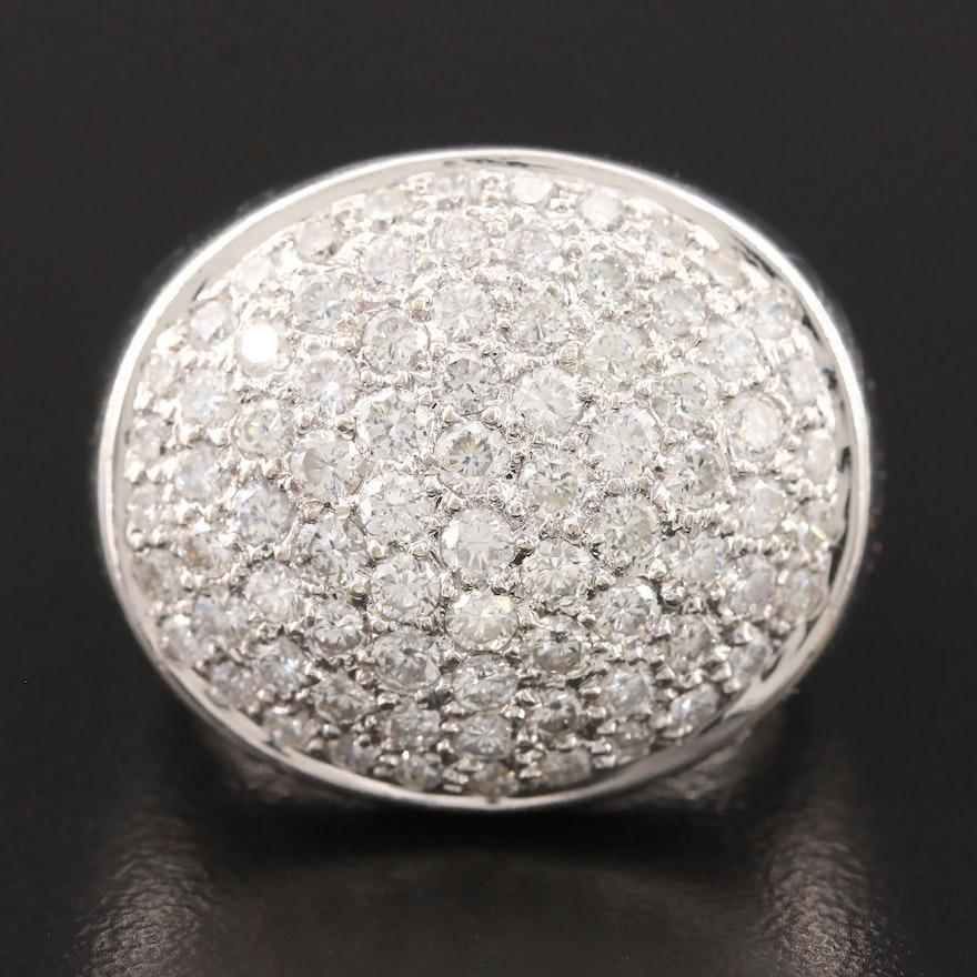 18K White Gold 2.00 CTW Diamond Pavé Ring